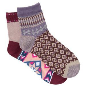 NWT Free People Double Trouble Knit Socks - 2 Pack